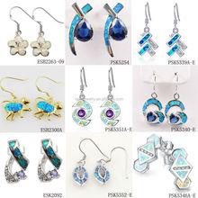 OEM Welcomed Fashion Fire Opal 925 Sterling Silver Jewelry, Earring Jewelry Manufacturer