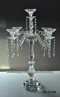 Elegant 5 Arms Candelabra, Crystal Wedding Centerpieces (BS-CH044)