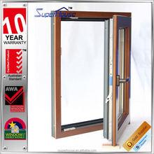 New Designed tilt & turn wood door design window for balcony