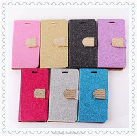 For iPhone6 Phone Cases Gold Luxury Glitter Diamond PU Wallet Leather Case For Apple iPhone 6 Plus 5.5 inch With Card Slot Cover