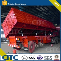 FUWA Axle Semi-dumper tipper trailer