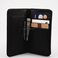 Wallet Case For Iphone 5s Bag in Black Italian vegetable leather Card Holder Money Clip Bilfold Men