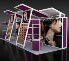 Outdoor aluminum trade show booth 3x6 exhibition booth