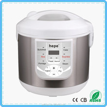 8 in 1 vivid silvery stainless steel finish multi cooker
