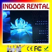 Sunrise Indoor rental thin die cast aluminum flat led message display