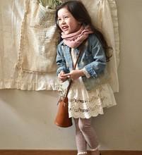 Newest Wholesale fashion children Spring clothes kids clothing girls new Korean denim shirt jacket