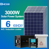 Moge 3kw solar electricity generating system for home low configuration