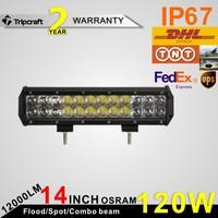 Latest style! 2PCS/LOT! 120W 4D AUTO LED LIGHT BAR 12V 24 V4X4 4WD Truck SUV ATV Headlight