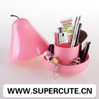 Best Selling product ABS Pink color pear shape design plastic container with lid