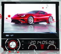 "DH7090 7"" One din car GPS car radio car audio with HD digital Screen 800*480 resolution ,SWC, TV, radio,AUX, GPS for all cars"