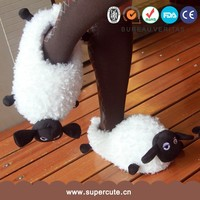 New arrived cute lamp sheep shape white parent-child animal shaped slippers