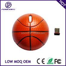 Creative basketball shape 2.4g wireless gift mouse mice