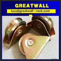 Deep Groove Ball Bearings carriage door wheel metal pulley for sliding door system roller