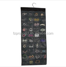 80-pockets Black Polyester hanging Jewelry Organizer