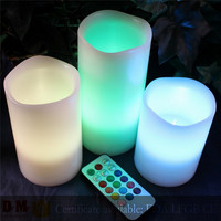 color changing remote control led candle christmas decorations