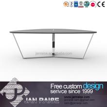 Customed Größe verwendet glas stuhl, moderne couchtisch beine