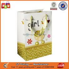 Silk ribbon paper bag for shopping & kids