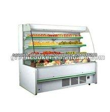 Vertical multi- cubierta conectada pantalla supermercado refrigerador