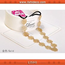 Hollow out rose alloy headband