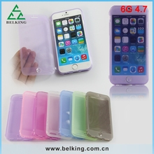 TPU flip cover for iPhone 6 case , for iPhone 6 front and back TPU cover
