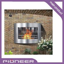 Wall mounted bioethanol fireplace