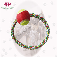 China Import Cotton Chew Toy with Tennis Ball Dog Rope Toys