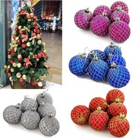 New Fashion 6Pcs Christmas Decoration Tree Ball Home Ornament Craft Garden Decor For Party Decoration Supplies Free Shipping