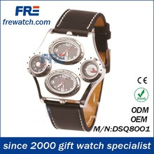business traveler's wrist watch with more time shown local time and home time