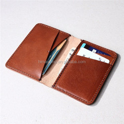 Brown business card holder walleters pouch