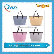 Combined Colors Stirpe Printing Beach Tote bag
