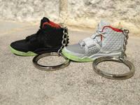 air jordan sneaker 3d keychains, running shoe key ring, mini running shoe keychain
