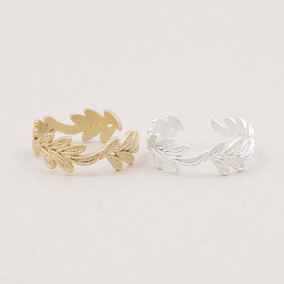 Leaf Ring Jewelry Gift Cosplay Crown Ring Silver or Gold Ring Free Ship.jpg