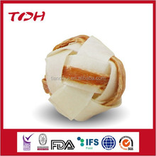 natural pet food-rawhide pet food rawhide ball inside chicken snacks dog treat dog food dog chew rawhide and chicken snacks