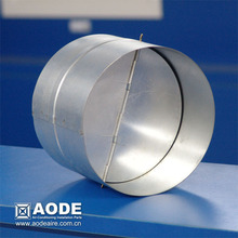 Range Hood Backdraft Damper with aluminum blade the air duct work accessories in HVAC / ventilation made by China manufacturer