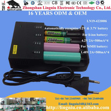 eu standard 2A 4 bay smart qi power charger automatic for li-ion battery and NiMH battery