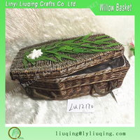 wholesale handmade willow coffin funeral casket made in linyi