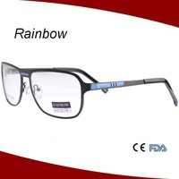 Latest model spectacle frame made in italy wholesale optical eyeglasses frame metal reading glasses MM15054
