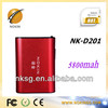 CE FCC RoHS power bank 5800mah portable power bank for iphone