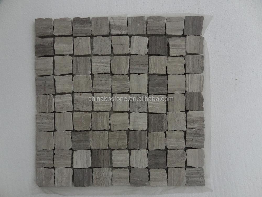 m032 houten grijze tegels voor keuken backsplashes steenmozaïek ...