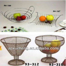 cheap Craft basket/Handicrafts/metal Decorative baskets/fruit basket