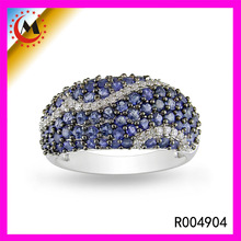 PERFECT & WHOLESALE & FASHION MIRCO PAVE JEWELRY RING IN WHITE GOLD