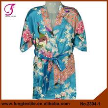 2304 crianças festa de aniversário Robes pijamas pavão seda miúdo Kimono Robe Floral Dessingown para meninas Robe vestido da menina flor