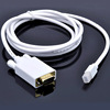 China supply cheapest thunderbolt mini display port dp to vga converter for notebook cable