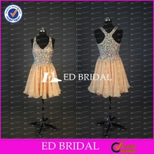 CE738 Sexy Delicate Short/Mini Halter Bling Bling Beaded Real Pictures Of Cocktail Dress