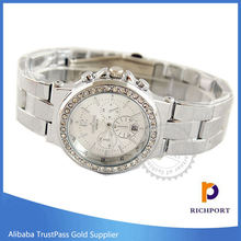 Customized Logo Geneva Calendar Alloy Wrist Watch