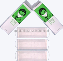 GOOD QUALITY 2-ply paper face mask by CE/FDA/ISO Approved