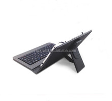 "Durable keyboard leather case with silicone hooks for 7""/9""/10.1""tablet"