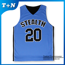 customized sublimation printing no sleeve basketball jersey