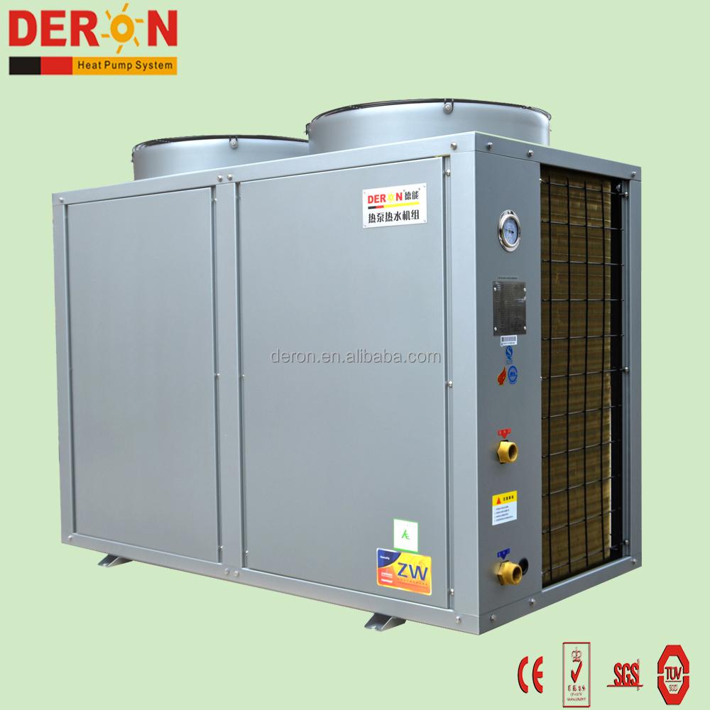 DERON yüksek enerji tasarrufu elektrikli hava kaynağı için sıcak su ısı pompası için otel, villa, resort (ticari büyük boyutu)