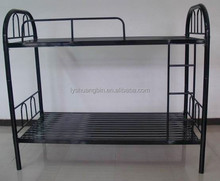 Adult black 0.8mm cheap double metal bunk bed
